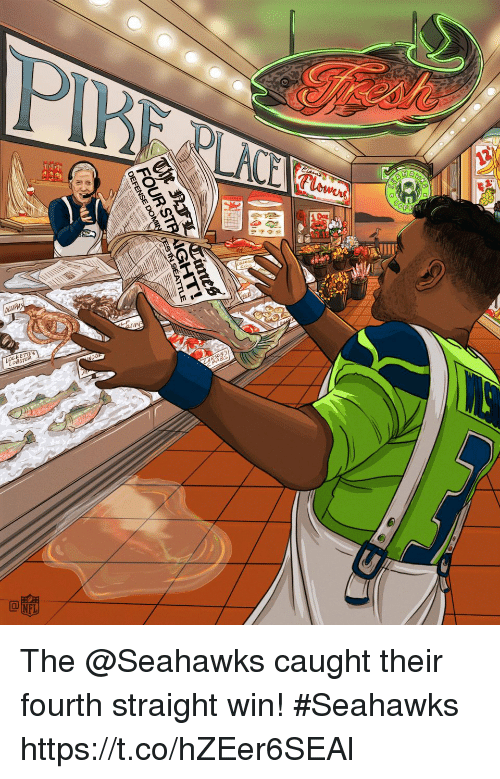 Memes, Seahawks, and 🤖: FOUR S The @Seahawks caught their fourth straight win!  #Seahawks https://t.co/hZEer6SEAl
