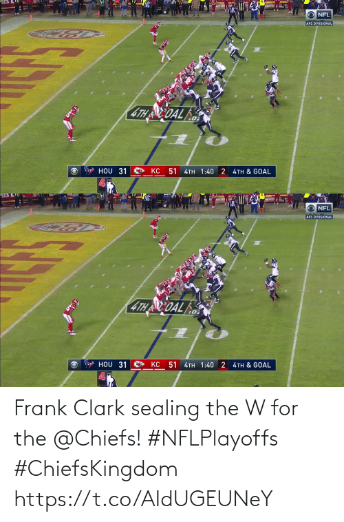 Clark: Frank Clark sealing the W for the @Chiefs! #NFLPlayoffs #ChiefsKingdom https://t.co/AIdUGEUNeY