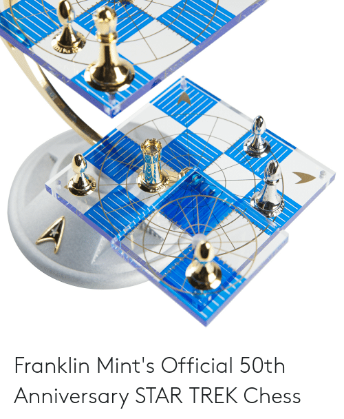 4 Dimensional Chess: Franklin Mint's Official 50th Anniversary STAR TREK Chess