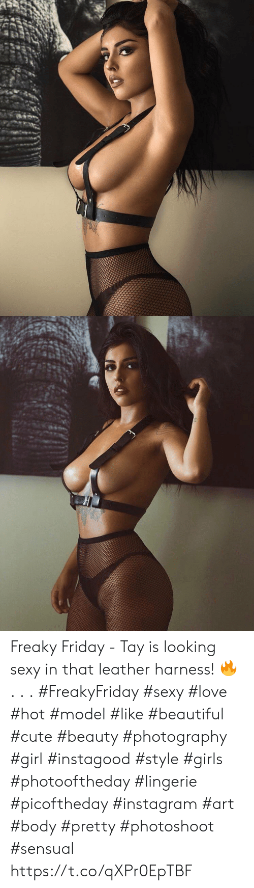 freaky friday: Freaky Friday - Tay is looking sexy in that leather harness! 🔥 . . . #FreakyFriday #sexy #love #hot #model #like #beautiful #cute #beauty #photography #girl #instagood #style #girls #photooftheday #lingerie #picoftheday #instagram #art #body #pretty #photoshoot #sensual https://t.co/qXPr0EpTBF