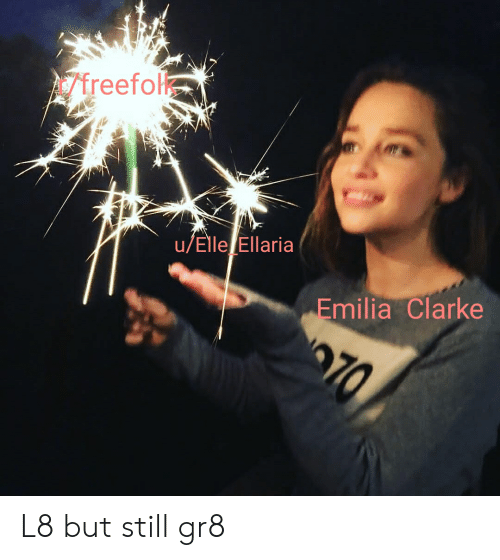 Emilia Clarke, Elle, and Still: freefo  u/Elle Ellaria  Emilia Clarke  70 L8 but still gr8