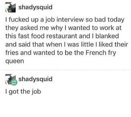 Queen: French Fry Queen