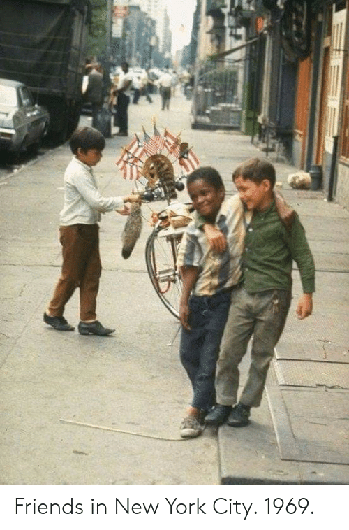 in-new-york-city: Friends in New York City. 1969.