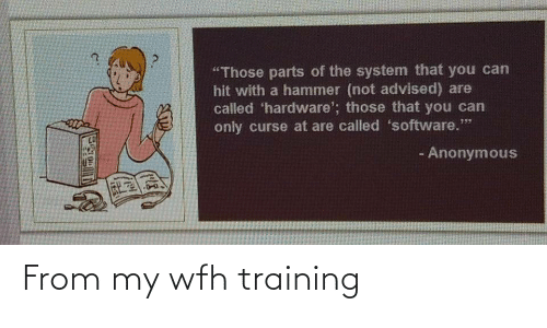 training: From my wfh training