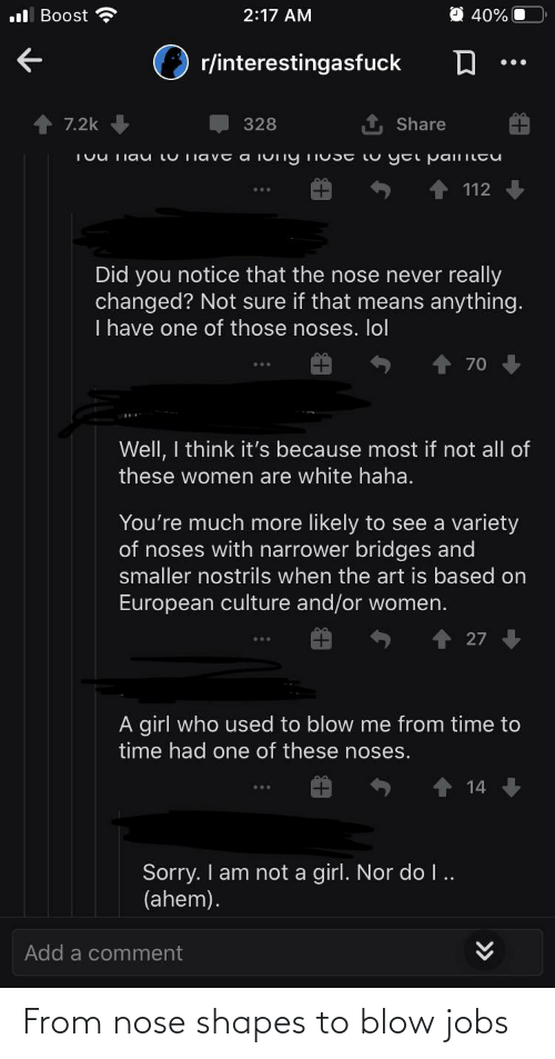 shapes: From nose shapes to blow jobs