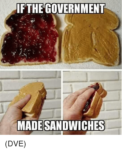 Memes, Government, and 🤖: FTHE GOVERNMENT  MADESANDWICHES (DVE)