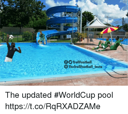 Memes, Pool, and 🤖: fTrollFootball  The TrollFootball Insta The updated #WorldCup pool https://t.co/RqRXADZAMe