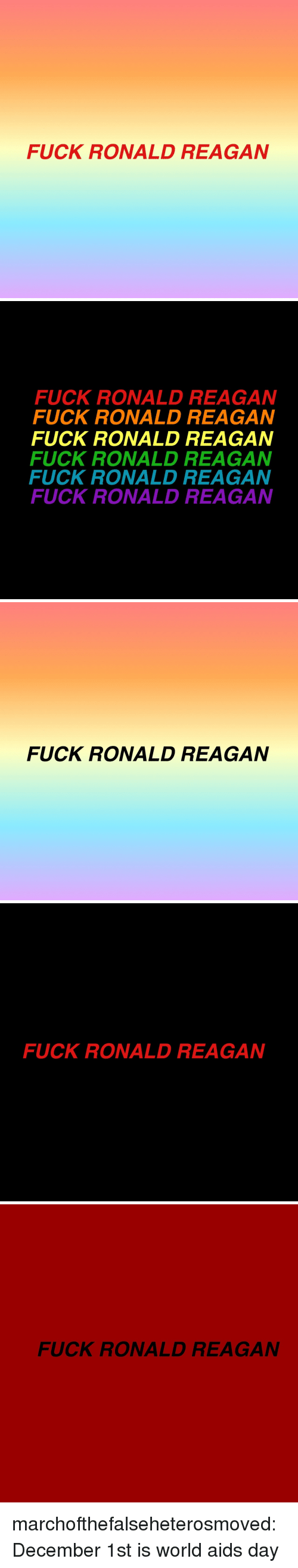 Tumblr, Blog, and Fuck: FUCK RONALD REAGAN   FUCK RONALD REAGAN  FUCK RONALD REAGAN  FUCK RONALD REAGAN  FUCK RONALD REAGAN  FUCK RONALD REAGAN  FUCK RONALD REAGAN   FUCK RONALD REAGAN   FUCK RONALD REAGAN   FUCK RONALD REAGAN marchofthefalseheterosmoved:December 1st is world aids day
