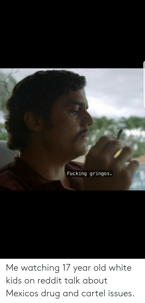 cartel: Fucking gringos. Me watching 17 year old white kids on reddit talk about Mexicos drug and cartel issues.