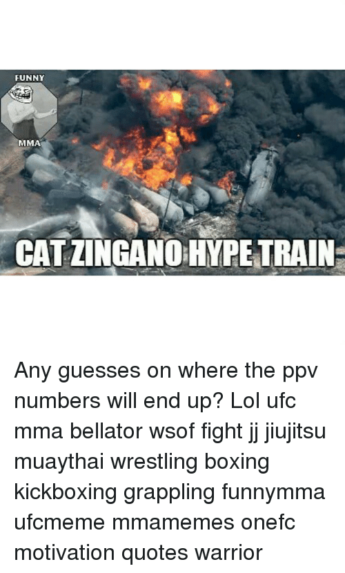 zingano: FUNNY  MMA  CAT ZINGANO HYPE TRAIN Any guesses on where the ppv numbers will end up? Lol ufc mma bellator wsof fight jj jiujitsu muaythai wrestling boxing kickboxing grappling funnymma ufcmeme mmamemes onefc motivation quotes warrior