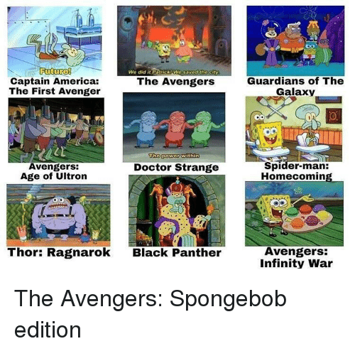 America, Avengers Age of Ultron, and Doctor: Futurel  Captain America:  The First Avenger  We did it  Patrick We saved thect  Guardians of The  Galaxy  The Avengers  Tho power within  Avengers:  Age of Ultron  Spider-man:  Homecomin  Doctor Strange  Thor: Ragnarok  Avengers:  Infinity War  Black Panther