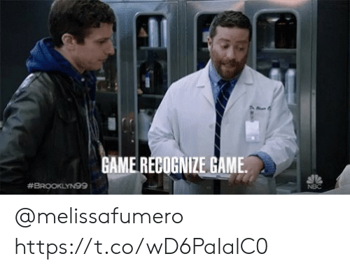 Memes, Game, and 🤖: GAME RECOGNIZE GAME  #BROOKLYN99  NBC @melissafumero https://t.co/wD6PaIalC0