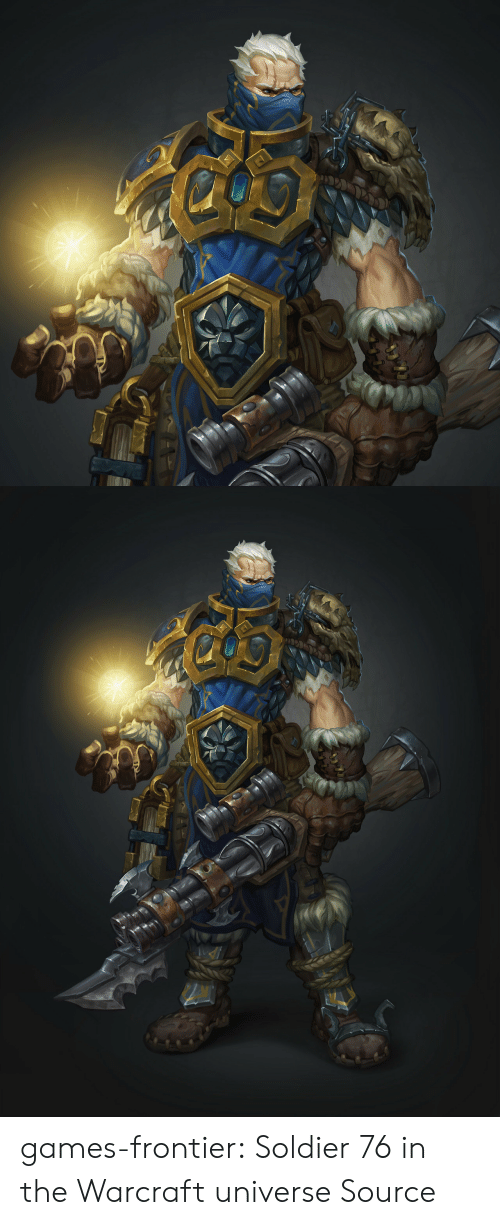 frontier: games-frontier:   Soldier 76 in the Warcraft universe   Source