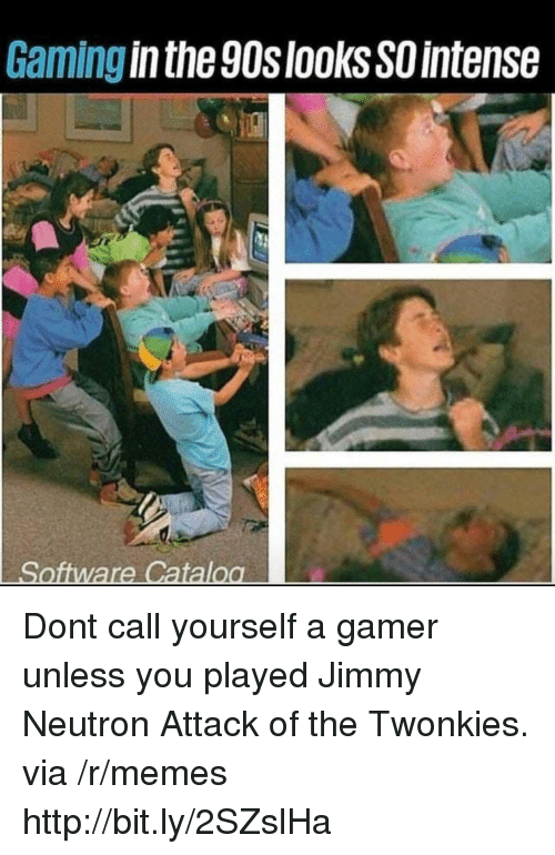 Memes, Http, and Gaming: Gaming in the 90slooksSO intense Dont call yourself a gamer unless you played Jimmy Neutron Attack of the Twonkies. via /r/memes http://bit.ly/2SZslHa