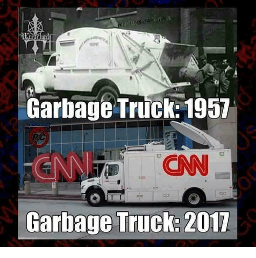 cnn.com, Memes, and 🤖: Garbage Truck: 1957  CNN  Garbage Truck: 2017