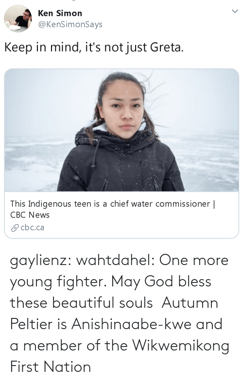 beautiful: gaylienz: wahtdahel:   One more young fighter. May God bless these beautiful souls    Autumn Peltier is Anishinaabe-kwe and a member of the Wikwemikong First Nation