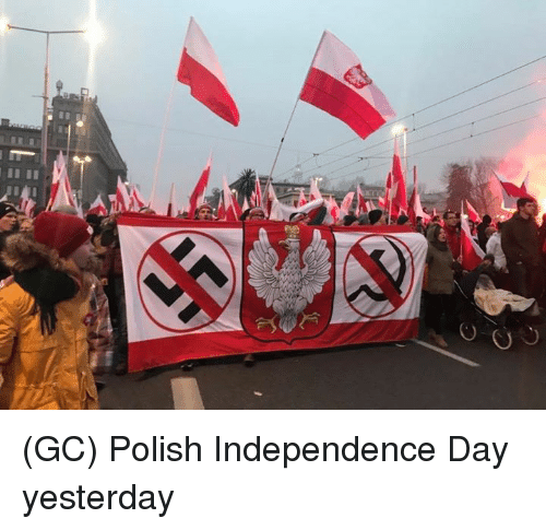 Independence Day, Memes, and 🤖: (GC) Polish Independence Day yesterday