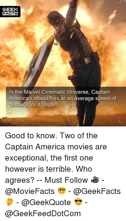 Geek facts in the marvel cinematic universe captain for Good facts about america