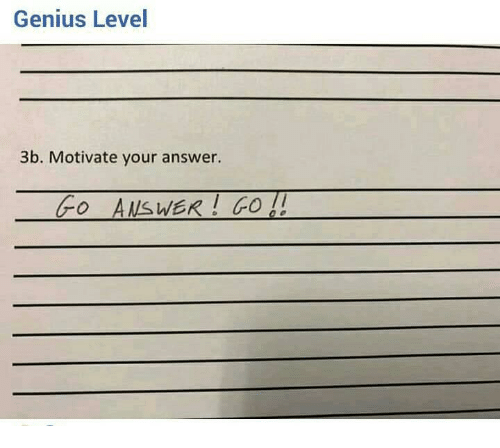 Genius, Answer, and Level: Genius Level  3b. Motivate your answer.  o A/SWER O