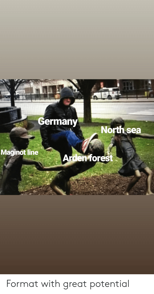 Germany, History, and Forest: Germany  North sea  Maginot line  Arden forest Format with great potential
