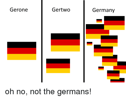 Germany, Oh No, and Germans: Gerone  Gertwo  Germany oh no, not the germans!