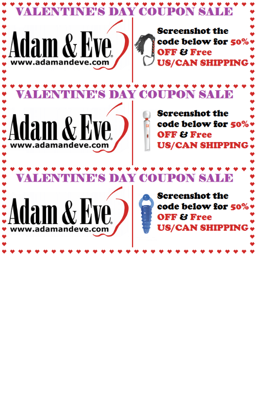 code:   Get 50% OFF almost any adult item & FREE US/CAN Shipping by using offer code POSITIVE at AdamAndEve.com.  18+ Only.