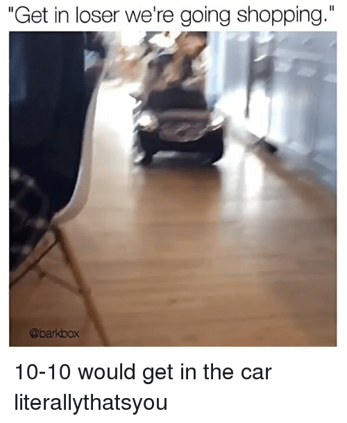 25 Best Memes About Get In Loser Were Going Shopping Get In