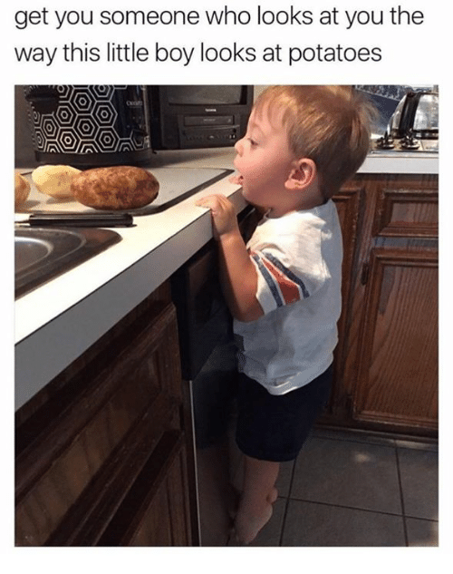 Humans of Tumblr, Boy, and Who: get you someone who looks at you the  way this little boy looks at potatoes