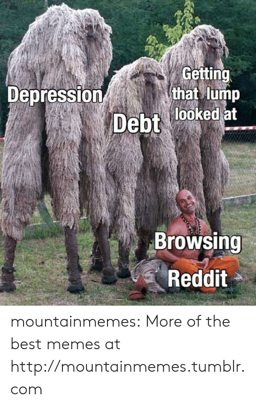 Browsing: Getting  that lump  Depression  Debt looked at  Browsing  Reddit mountainmemes:  More of the best memes at http://mountainmemes.tumblr.com