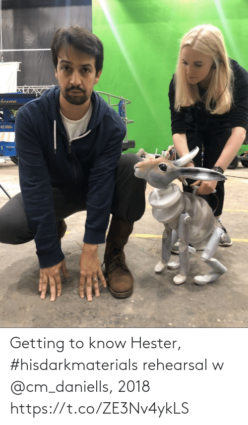 know: Getting to know Hester, #hisdarkmaterials rehearsal w @cm_daniells, 2018 https://t.co/ZE3Nv4ykLS