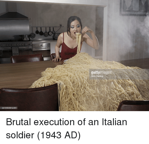 Ing, Soldier, and Italian: gettyimages  Nich  ing  sb10064661a-001 Brutal execution of an Italian soldier (1943 AD)