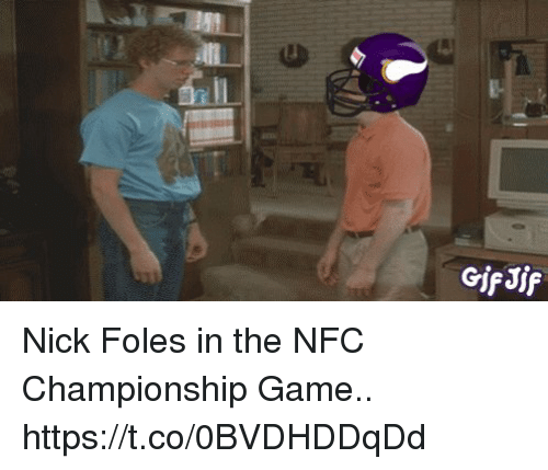 Sizzle: GifJif Nick Foles in the NFC Championship Game.. https://t.co/0BVDHDDqDd