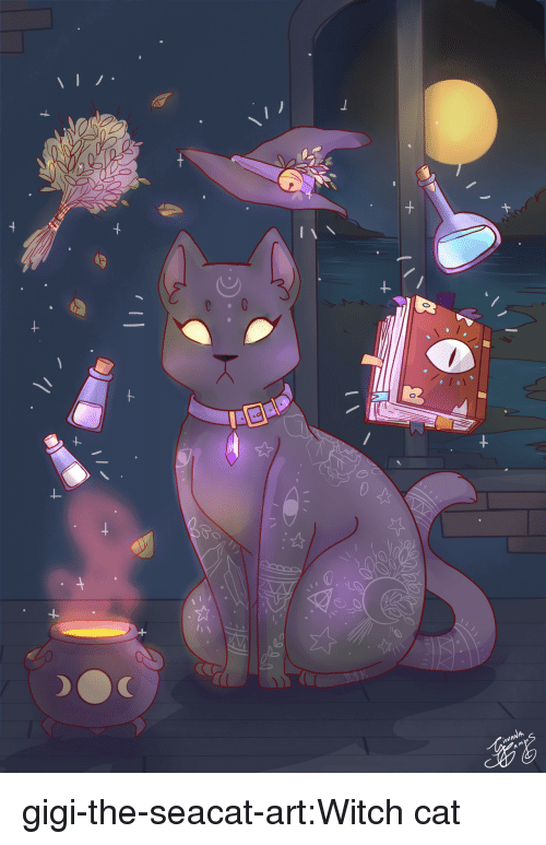 Tumblr, Blog, and Art: gigi-the-seacat-art:Witch cat