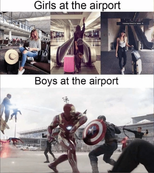 Girls, Boys, and  Airport: Girls at the airport  kChckGals  Boys at the airport