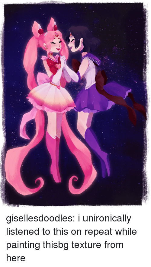 Target, Tumblr, and youtube.com: gisellesdoodles:  i unironically listened to this on repeat while painting thisbg texture from here