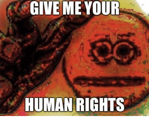 human rights: GIVE ME YOUR  HUMAN RIGHTS