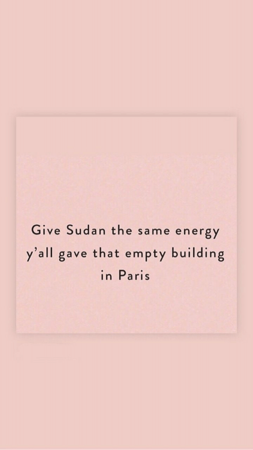 Energy, Paris, and Sudan: Give Sudan the  ne energy  sam  y'all gave that empty building  in Paris