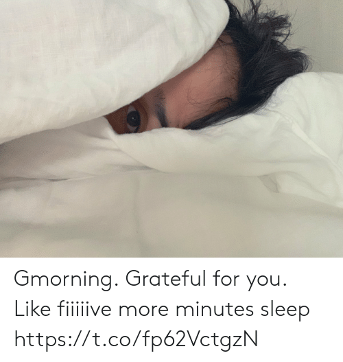 Memes, Sleep, and 🤖: Gmorning. Grateful for you.  Like fiiiiive more minutes sleep https://t.co/fp62VctgzN