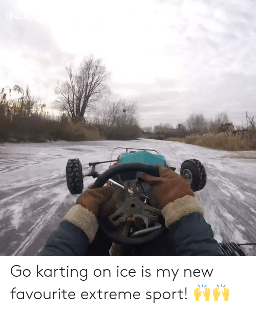 extreme sport: Go karting on ice is my new favourite extreme sport! 🙌🙌
