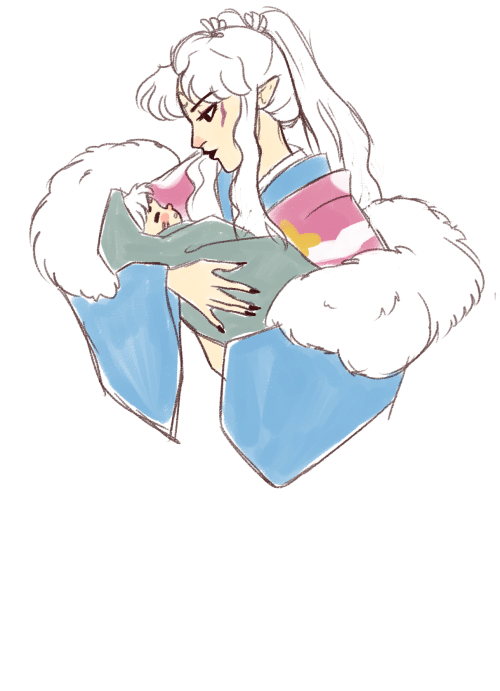 Hello: gobodosama:this is a redraw…but hello yes new momma inukimi, just bury me now thanks!!!!!!!