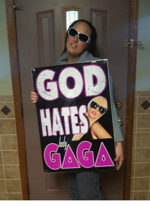 God, Gaga, and Hat: GOD  HAT  GAGA  0