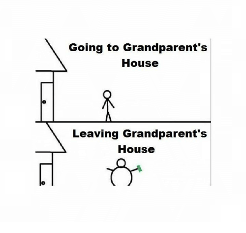 Memes, 🤖, and Grandparents: Going to Grandparent's  House  Leaving Grandparent's  House