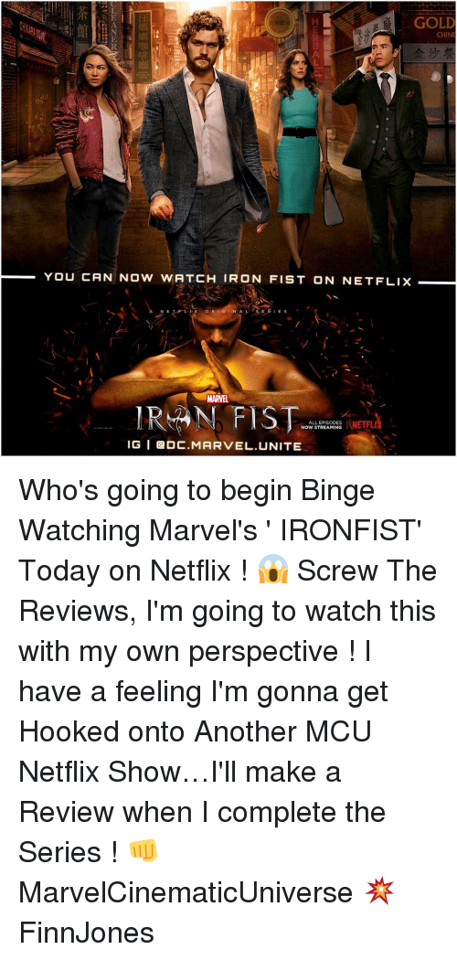 gold chine you can now watch iron fist onnetflix n 16678948 🦅 25 best memes about fist fist memes,Iron Fist Meme