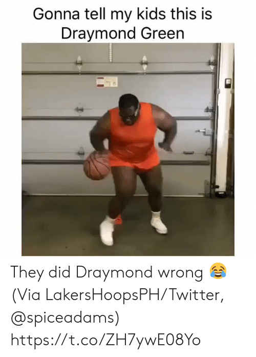Draymond Green: Gonna tell my kids this is  Draymond Green They did Draymond wrong 😂  (Via LakersHoopsPH/Twitter, @spiceadams) https://t.co/ZH7ywE08Yo