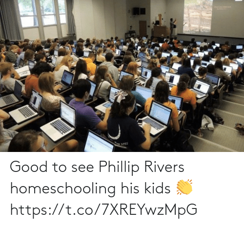 Football: Good to see Phillip Rivers homeschooling his kids 👏 https://t.co/7XREYwzMpG