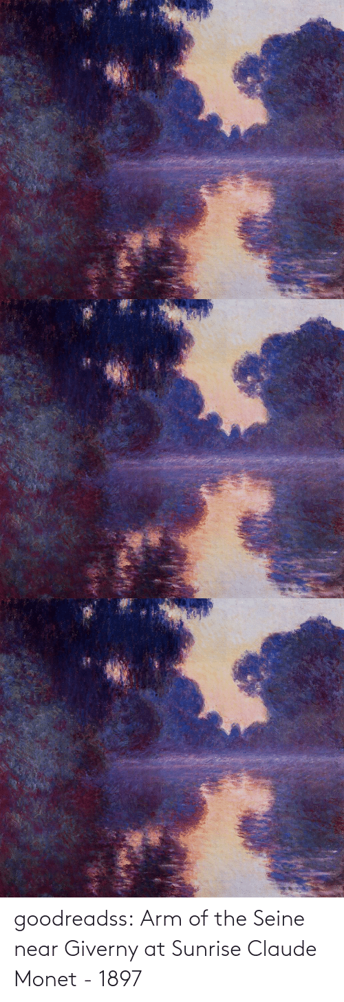 Near: goodreadss: Arm of the Seine near Giverny at Sunrise Claude Monet - 1897