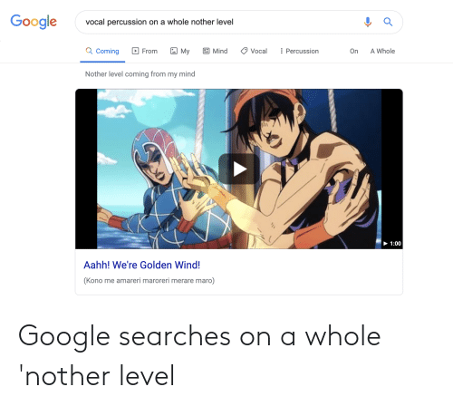 Nother: Google searches on a whole 'nother level