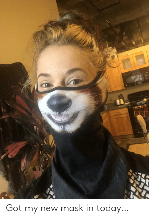Mask: Got my new mask in today…