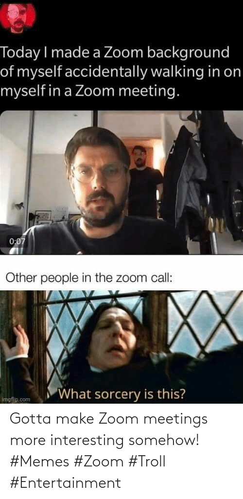 Zoom: Gotta make Zoom meetings more interesting somehow! #Memes #Zoom #Troll #Entertainment
