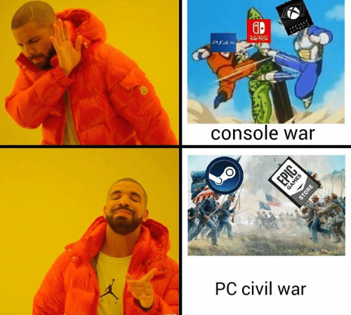 Memes, Civil War, and 🤖: GP  WITCH  console war  PC civil war